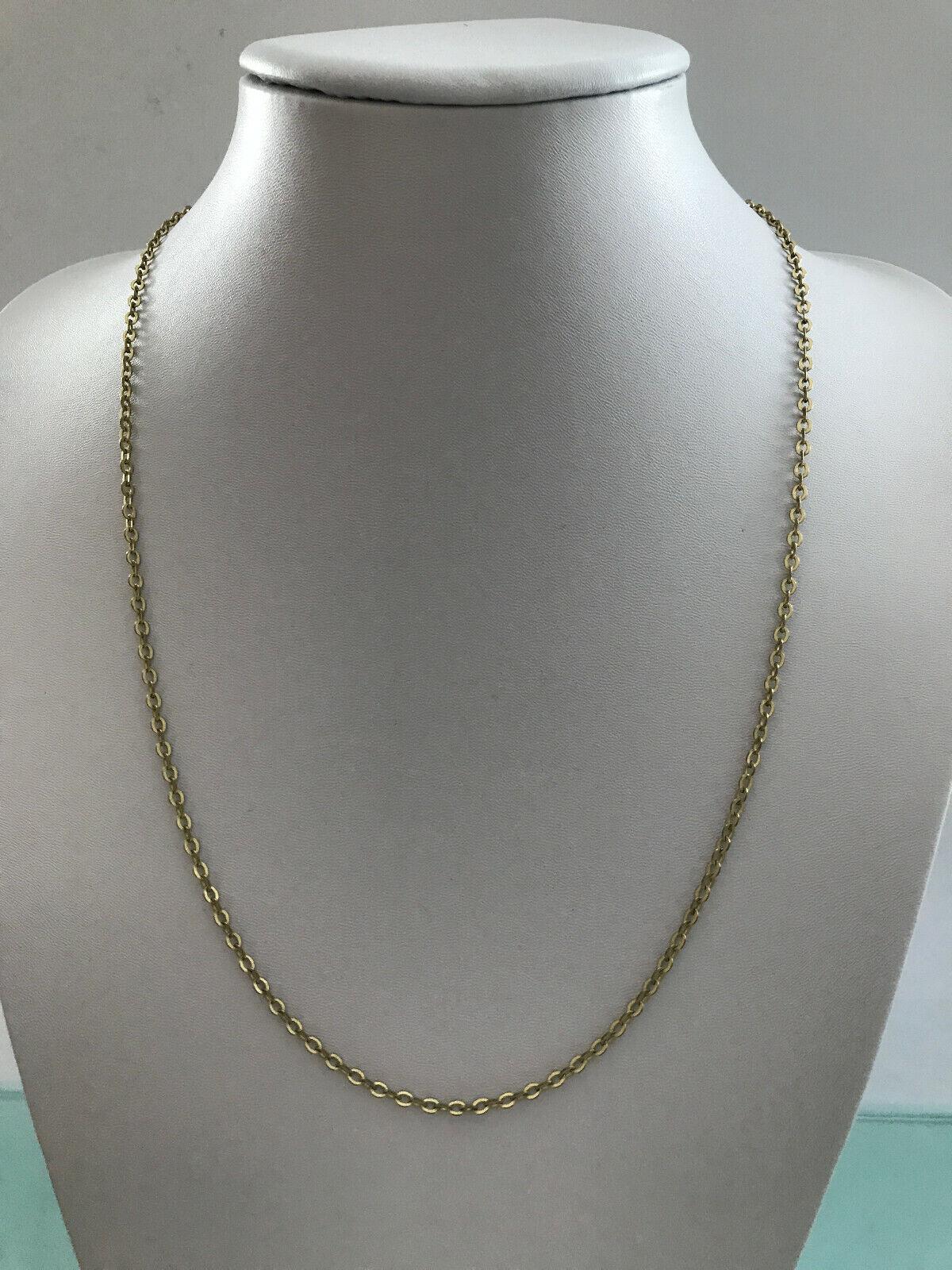 70er Jahre AM Double Kette Halskette Gliederkette 63 cm