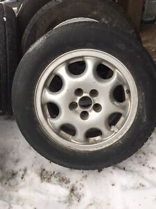 VW Golf alloy wheels and tires