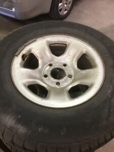 Set of dodge ram rim and tires