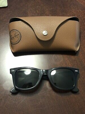 Ray Ban Wayfarer 2140 901 50/22 Polarized Black Sunglasses With (Ray Bans With Prescription)