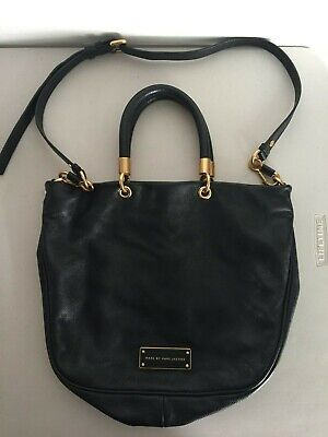 Marc by Marc Jacobs Too Hot to Handle Leather Shopper Bag BLACK (Marc Jacobs Too Hot To Handle Shopper)