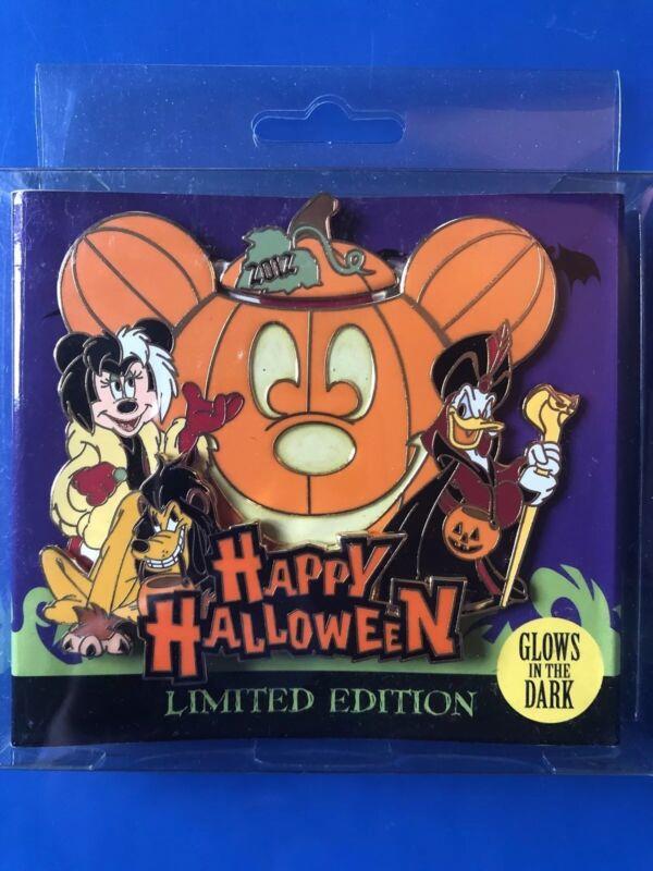 Mickey Minnie Mouse Donald As Cruella Hook Jafar Disney Halloween Jumbo Pin