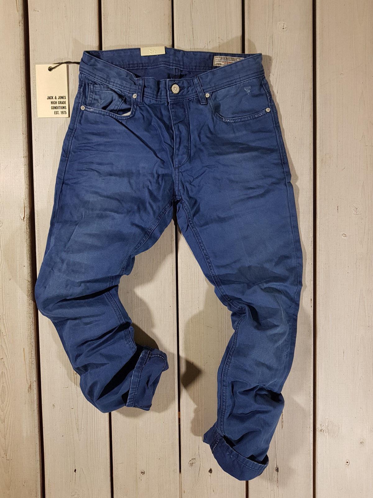 RRP NEW JACK /& JONES MEN/'S JEANS JJ 577 BOXY POWEL STONEWASHED BLUE