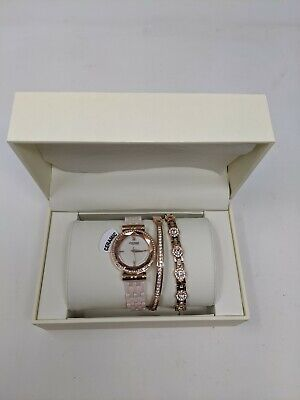 Anne Klein New York 12/2316BHST Women's Ceramic Watch with Bracelets