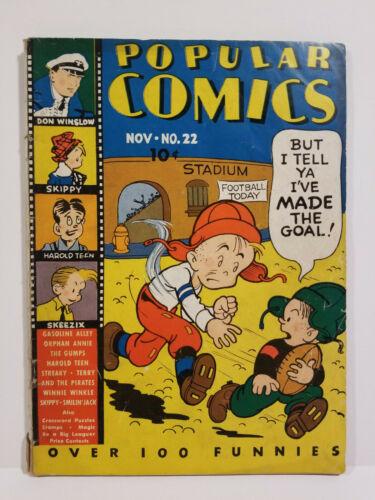 Popular Comics # 22, Platinum Age Dell HTF! (Dell 1937)