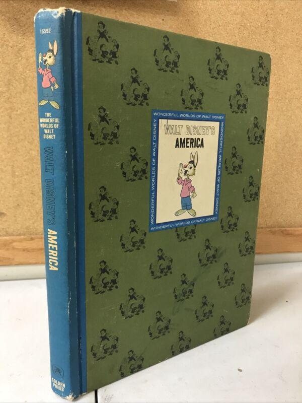 Walt Disneys America 1965 by Golden Press pub. HC illustrated.