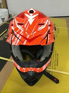 Polaris orange atv helmet