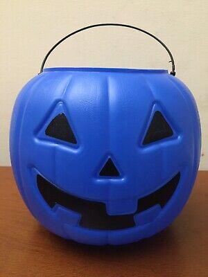 Blue Pumpkin Candy Pail Bucket Halloween Trick or Treat