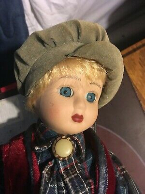 Rare Vintage Musical Moving Doll Automaton Victorian Costume silent night