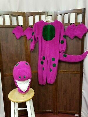Vintage 1997 purple dinosaur Barney full body warm costume/ mini cosplay size 4