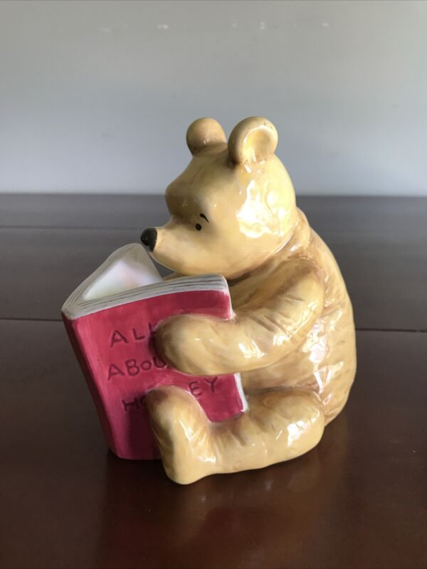 Disney Classic Winnie the Pooh Reading All About Honey Piggy Bank Michel & Co