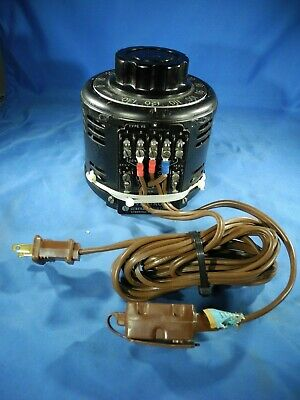 General Radio Co. Variac Type V5 5 Amp  Works Fine