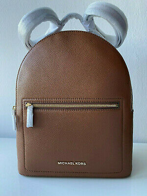 MICHAEL KORS Jessa Tan Brown Leather Backpack BNWT New Authentic 38H9CEVB8L