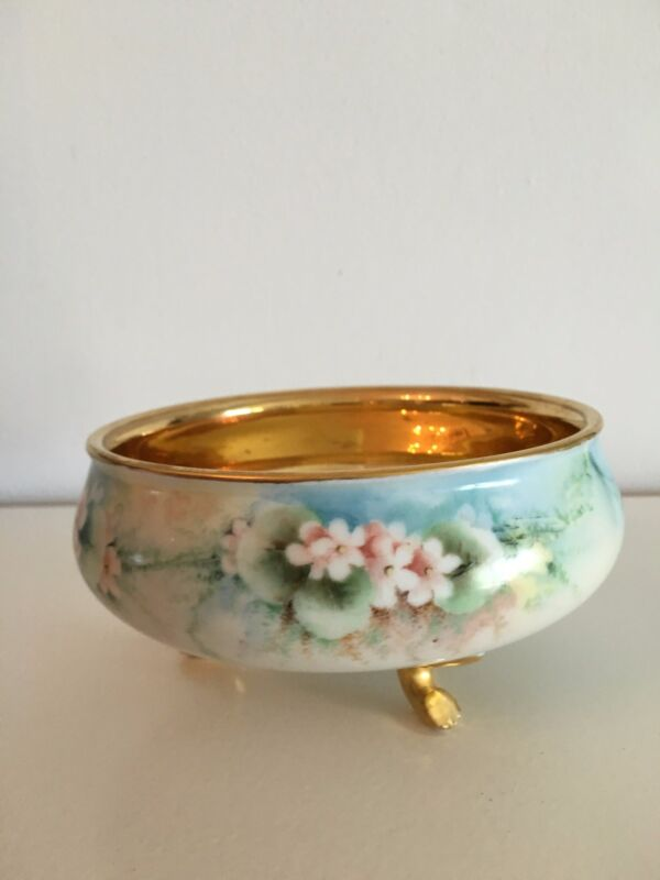 Limoges Footed bowl Signed