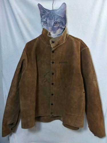 Vtg Welding Jacket szXL Steiner Industries Style 92143 100% Leather Work Coat