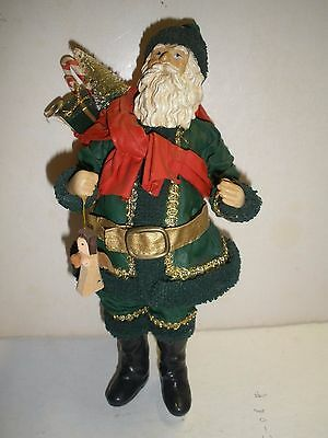 """1988 Clothtique by Possible Dreams - 10"""" Santa in Green Suit"""