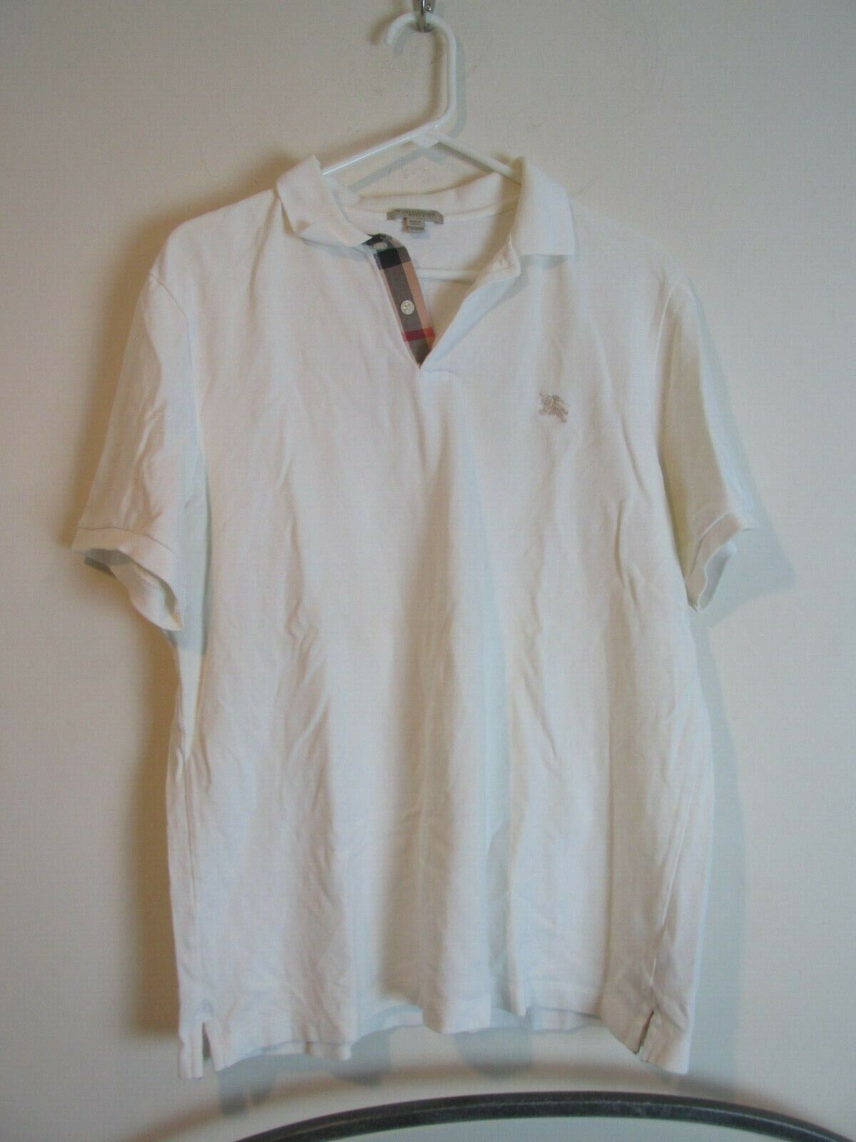 Купить Burberry - Burberry Brit Polo Shirt Men's Size XXL White Nova