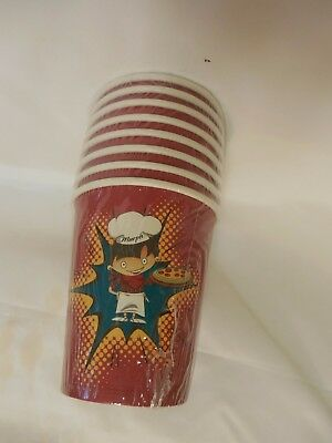 Papa Murphys Pizza 8 Oz Paper Drink Cups  Sleeve Of 8 New Sealed
