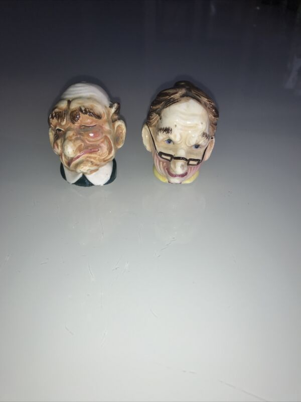 Old Man and Woman Heads Salt and Pepper Shakers made in Japan