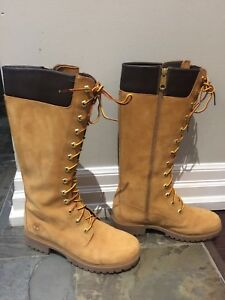 Women's 9.5 Tall Timberlands Boots almost new