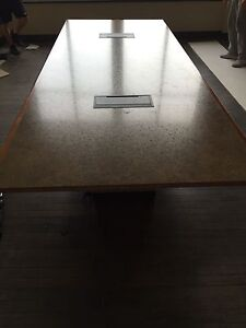 HUGE MEETING BUSINESS TABLE