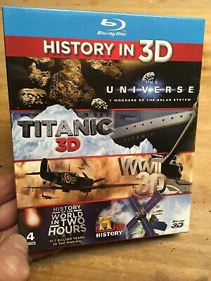 Best Of History in 3D(UK Blu Ray)New+Sealed Titanic/World War II 2 Universe H