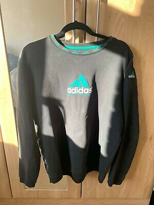 adidas equipment sweatshirt size medium black and green