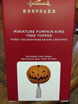 Hallmark Miniature Pumpkin King Tree Topper Disney Nightmare before Christmas