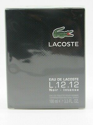 Lacoste L.12.12 Black Noir Intense by Lacoste, 3.3 oz EDT Spray men