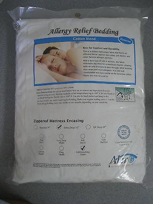 Cotton Allergy Resistant White Mattress Encasing California King Extra -