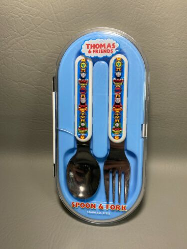 2005 Thomas & Friends Stainless Steel Collectible Spoon & Fork Set | CLEAN !!