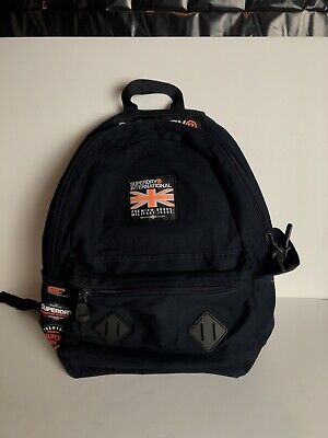 Superdry Rookie Montana Rucksack Backpack Dark Navy FREE SHIPPING