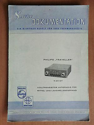 Reparatur Philips Autoradio Traveller N5A14T Schaltplan Abgleich-Anleitung