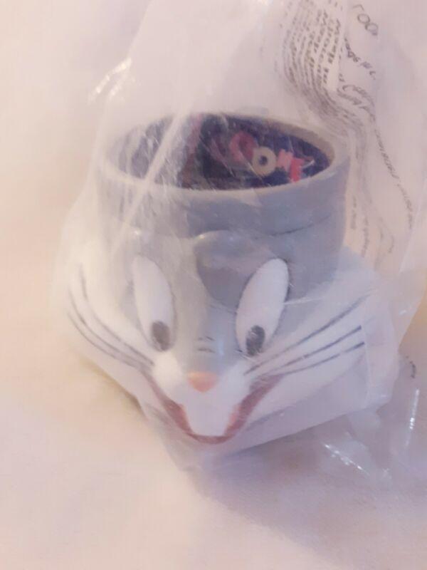 Bugs Bunny Looney Tunes Cup Mug Hard Plastic 1992 Warner Brothers Sealed