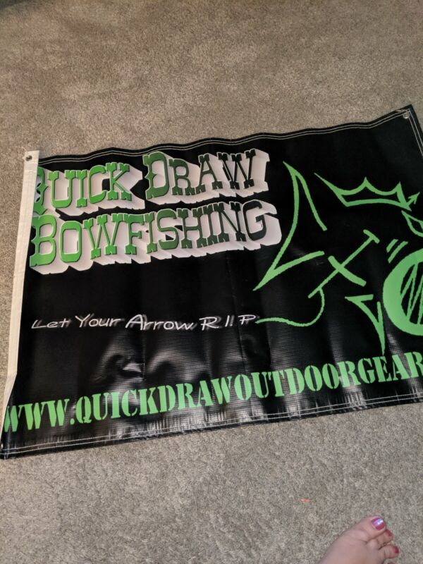 Quick Draw Vinyl Store Banner Poster Bow Archery Hunting