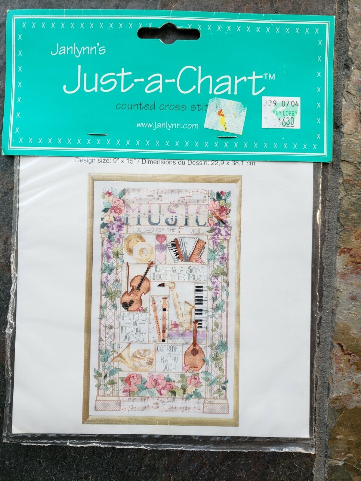 Janlynn s Cross Stitch Just A Chart 023-0191 9 X 15 CELEBRATION OF MUSIC - $8.99