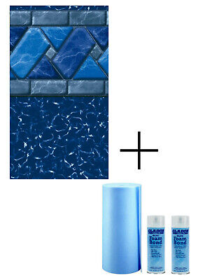 GLI Ocean Blue Inground Swimming Pool Replacement Liner 25 Gauge - (Choose -