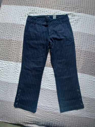 H&M sehr schöne 7/8 Jeans Hose Dunkelblau mit Streifen Gr.3
