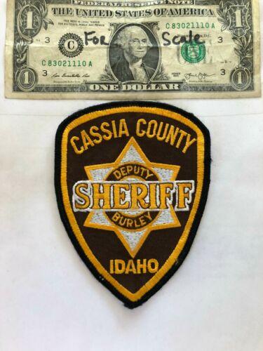 Cassia County Sheriff Idaho Police Patch (Deputy) Un-sewn in great shape