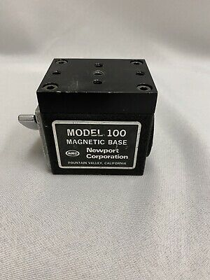 Newport Model 100 Magnetic Instrument Base Heavy Duty Locks To Metal Surfaces
