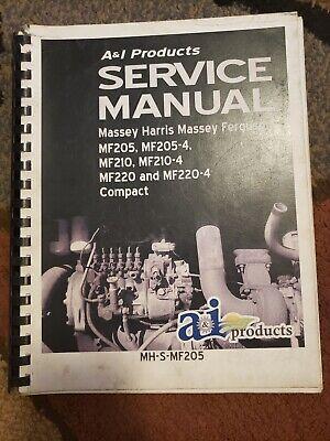 Massey Ferguson Mf 205 210 220 Service Manual