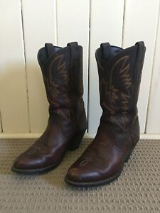 e4c321339f0 Women s Dark Brown Leather Cowboy Boots Size 6