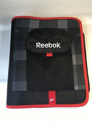 Reebok Zipper Organizer Day Planner 3 Ring School Business Folder Portfolio