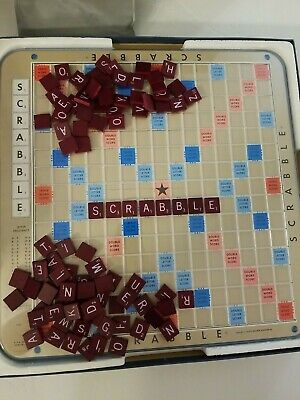 Vintage 1977 Selchow & Righter Deluxe Edition Scrabble game TURNTABLE BOARD