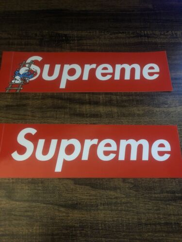 Supreme Red Smurf Box Logo Sticker FW20 Lot - $11.99