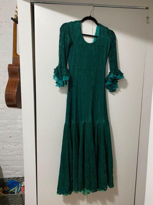 Emerald Green Flamenco Dress