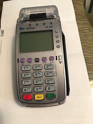 Verifone Vx520 Credit Card Machine W Chip Reader Emv Ethernet Or Dial