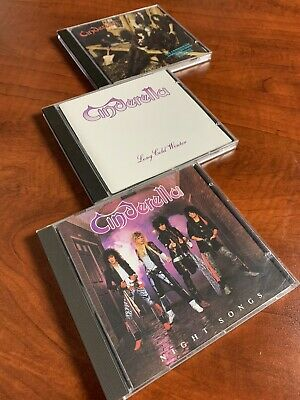 Cinderella CD Lot - 3 CDS Night Songs, Long Cold Winter & Heartbreak Station
