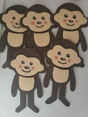 Monkey Baby Shower Centerpieces (5 Monkey Foam figures great for centerpiece decoration jungle baby)