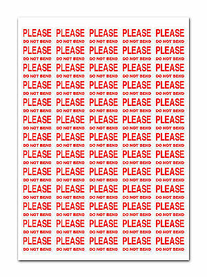 3250 - Do Not Bend - Labels Small Stickers
